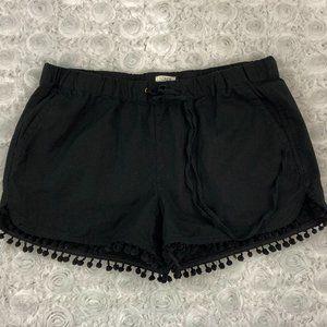 J.Crew | Black Pom Pom Trim Shorts